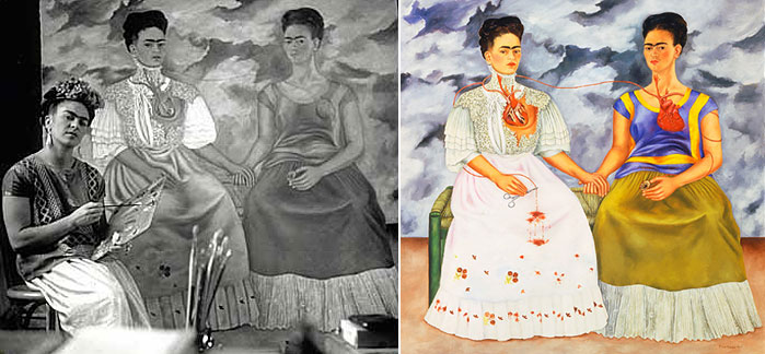 frida kahlo two fridas essay Mexican painter frida kahlo is known for her stunning self-portraits you might not think of her immediately as a painter who tells stories through her art indeed, you could be forgiven if you think of her husband, muralist diego rivera, as the more narrative painter of the two after all, his paintings told tales.