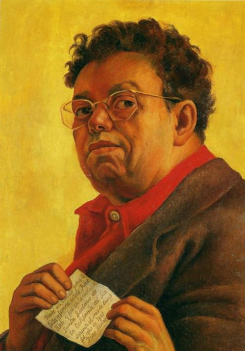 """To be an artist, one must . . . never shirk from the truth as he understands it, never withdraw from life"" - Diego Rivera, painter, self-portrait"